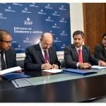 Firma de convenio de entre el Ministerio de Gobierno y la CNRT