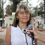 Elba Castro refacciones en cementerio del Rosario