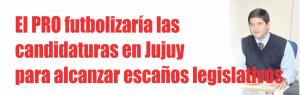 NOTINOR. El PRO futbolizaría las candidaturas en Jujuy para alcanzar escaños legislativos