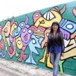 Rebeca Chambi Mural alusivo a la democracia