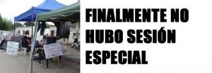 NO HUBO SESION ESPECIAL