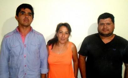 Bernardo Rojas, Claudia Romero y Cristián Molina- vocales de El Fuerte