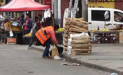 limpieza calle Santiago del Estero