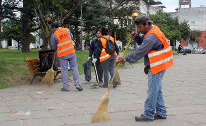 limpieza plaza belgrano 1
