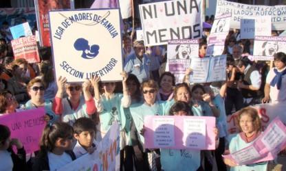 La marcha de Ni una menos a la cual refiere la carta de Alba.
