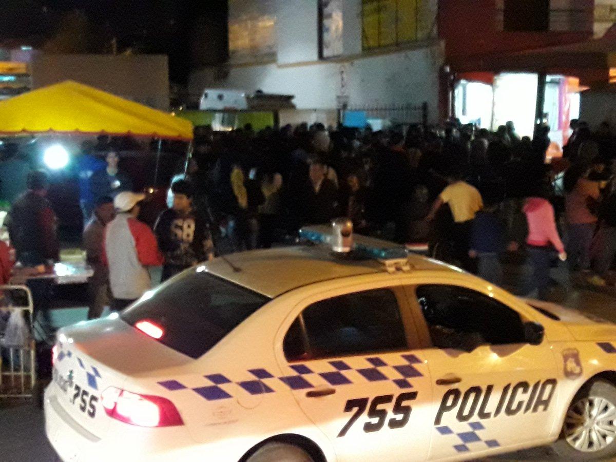 Protesta policia vieja terminal