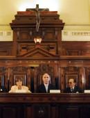 zzzznacp2 NOTICIAS ARGENTINAS  BAIRES, OCTUBRE 5: La Corte Suprema de Justicia, en forma unánime, ratificó una medida cautelar que impide aplicar el artículo 161 de la ley de medios, que impone un año para la desinversión.  Foto NA: ARCHIVO-JUAN VARGASzzzz