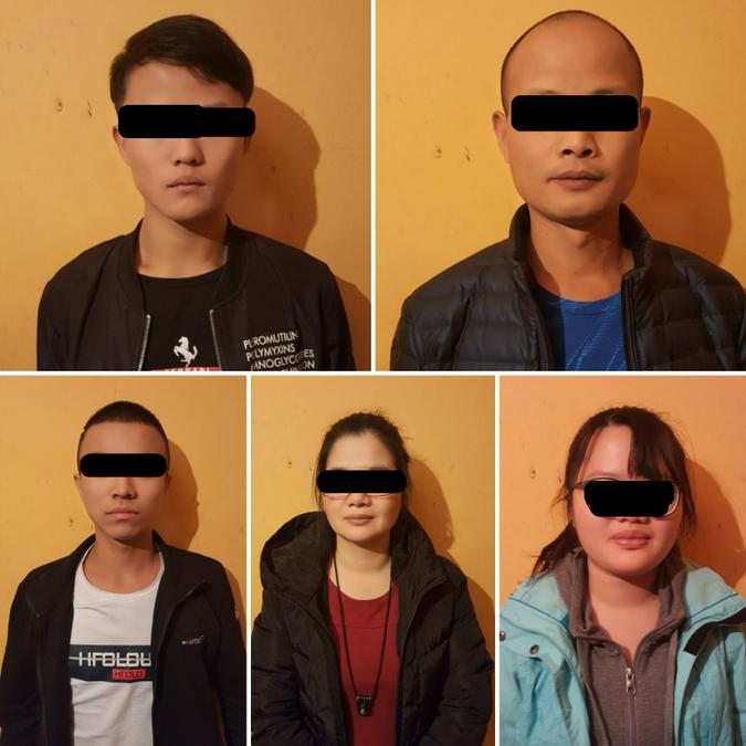 chinos detenidos